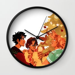 Christmas for the Greeks Wall Clock