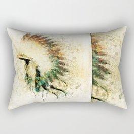 Native American Boho Headdress Sideview Rectangular Pillow