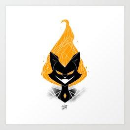 NightmareNetty (Orange) Art Print