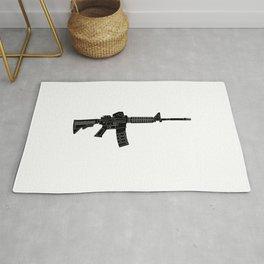 AR15 Rifle Silhouette Rug