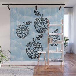 Abstract triangle apples with background Wall Mural