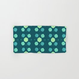Blue & Green DnD Dice Hand & Bath Towel