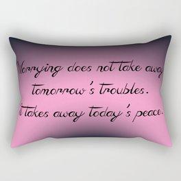 Today's Peace Rectangular Pillow
