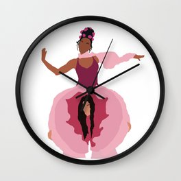 Pynk Minimalist: Janelle Monae & Tessa Thompson Wall Clock