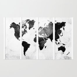 World map in pieces Rug