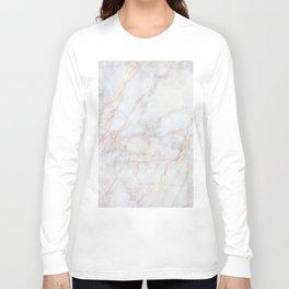 White Marble 004 Long Sleeve T-shirt