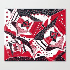 TRICHROMATIC DELIRIUM RED BLACK WHITE Canvas Print