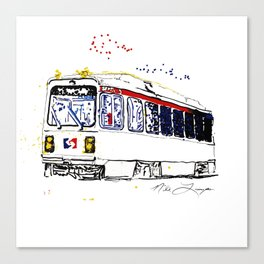 Septa Trolley Art: Philly Public Transportation Canvas Print