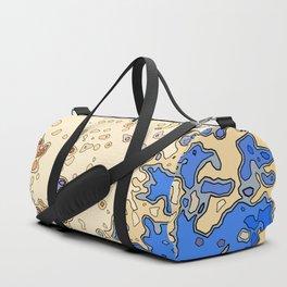 Yellow in Blue Minor Duffle Bag