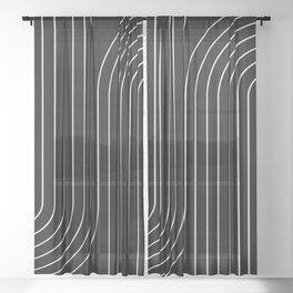 Minimal Line Curvature II Sheer Curtain