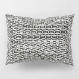 Decorative Triangles Pattern Pillow Sham
