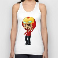 tony stark Tank Tops featuring Tony Stark - Iron Hooded by Kapika Arts