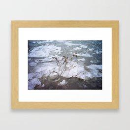 Frozen Hudson 2 Framed Art Print