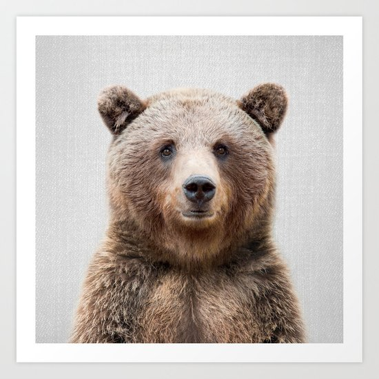 Grizzly Bear - Colorful by galdesign