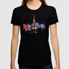 new york inked  MEDIUM Black Womens Fitted Tee