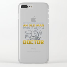 Old Man - A Doctor Clear iPhone Case