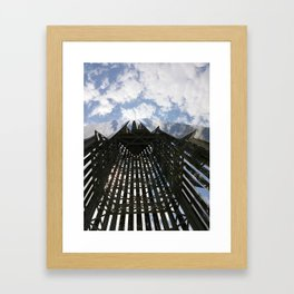 Clouds + Architecture Framed Art Print
