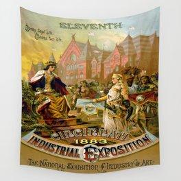 Vintage poster - Cincinnati Wall Tapestry
