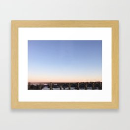 Richmond / James River Railway Bridge Framed Art Print