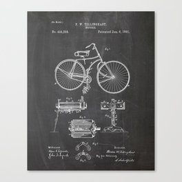 Bicycle Patent Drawing Canvas Print