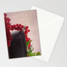 Still life of red currants Stationery Cards