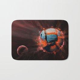Exploding Planet Bath Mat