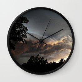 Ominous Storm Wall Clock