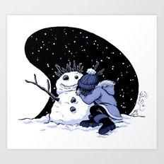 Sad Snow Art Print