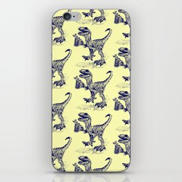 Tipsy Velociraptor with Beer Pattern iPhone Skin