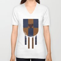 ravenclaw V-neck T-shirts featuring ravenclaw crest by nisimalotse