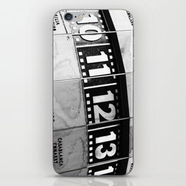 World Clock Berlin BW iPhone Skin