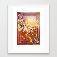 sailor venus Framed Art Prints featuring Sailor Venus by Teo Hoble