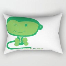 Cubicle Monkey Rectangular Pillow