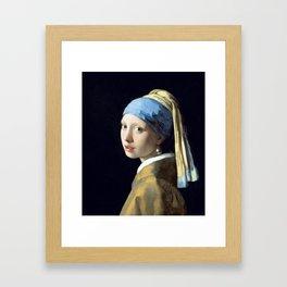 Johannes Vermeer Girl with a Pearl Earring Framed Art Print
