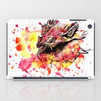 smaug iPad Cases featuring Watercolor Smaug by Trinity Bennett