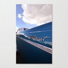 Wildcat - Classic American Blue Car Canvas Print
