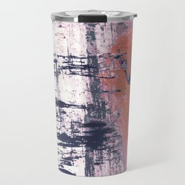 Leap of Faith: colorful abstract piece in blues, pinks, and gold Travel Mug
