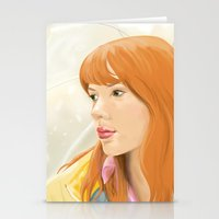 lost in translation Stationery Cards featuring Lost In Translation - Charlotte by Tanita
