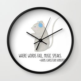Music Speaks Mouse Wall Clock