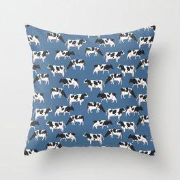 Big milk dogs Throw Pillow