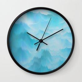 Clouds and mountains. Abstract. Wall Clock