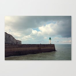 Lighthouse at St. Valery-en-Caux Canvas Print