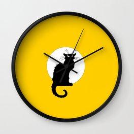 Alexandre Steinlen - Le chat noir - The black cat - 3 -  Orange Wall Clock