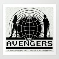 avenger Art Prints featuring avenger by Karen Yuill