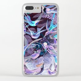 Ode to Haeckel's Hummingbirds Clear iPhone Case
