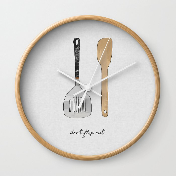Don't Flip Out, Kitchen Wall Art Wall Clock