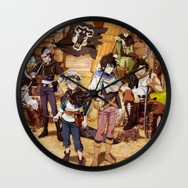 Black Bulls Black Clover Wall Clock
