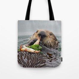 Sea Otter Crab Breakfast Tote Bag