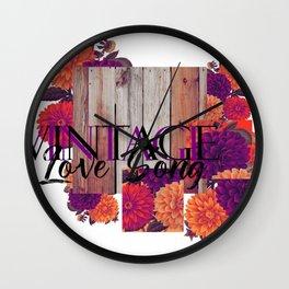 VINTAGE LOVE SONG Wall Clock