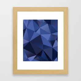 Abstract of triangles polygon in navy blue colors Framed Art Print